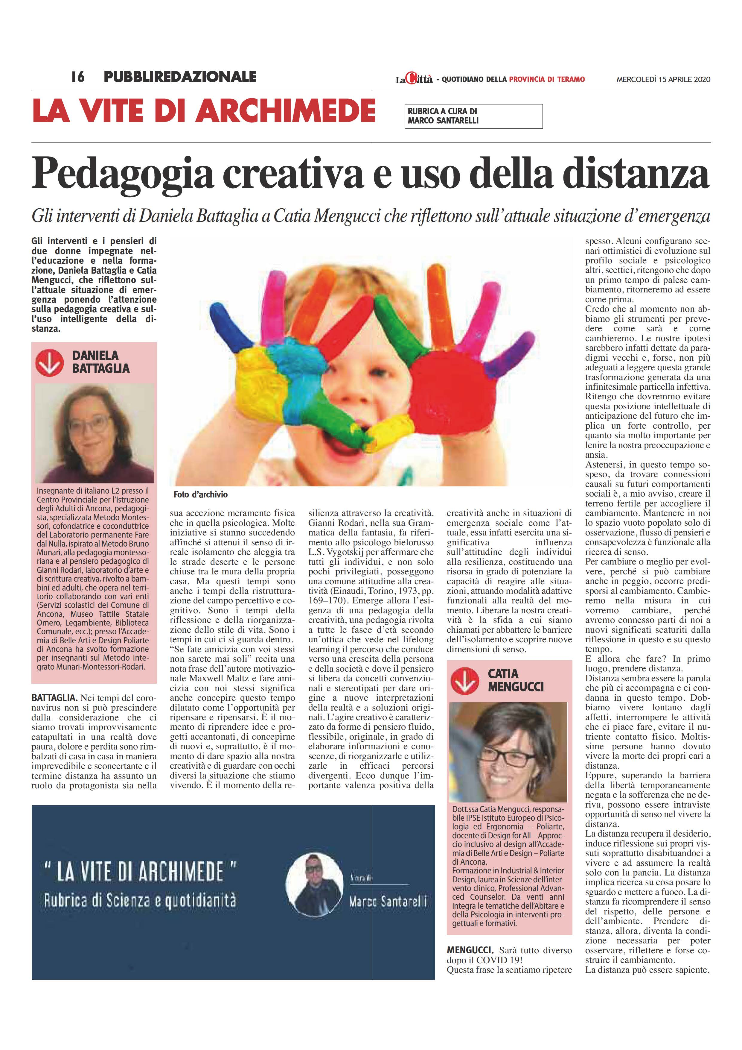 La Citta Quotidiano 15.04.2020