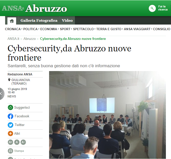 Cybersecurity Abruzzo nuove frontiere